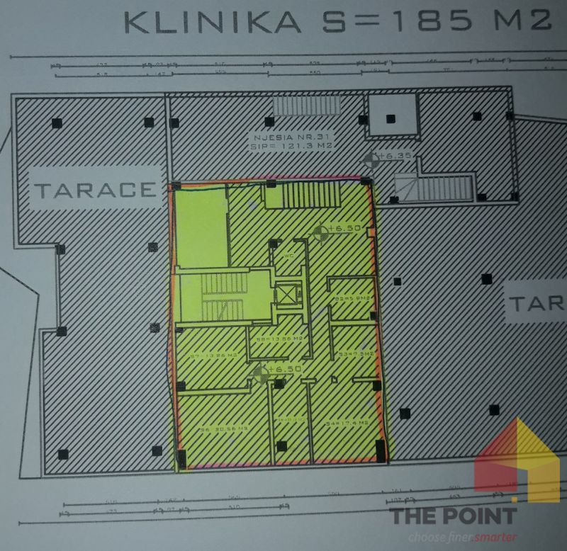 Office for rent 185 m2 in the  St Kavajes